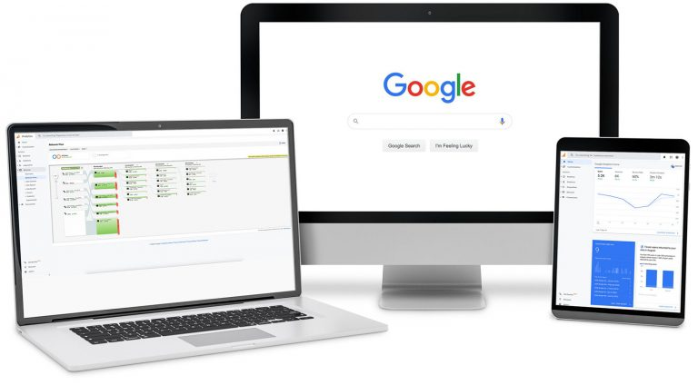 Devices with screens of SEO tools