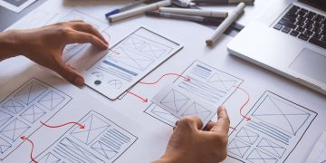 mockup drawings of website wireframes