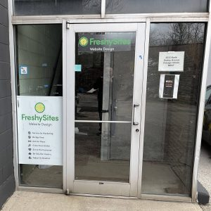 FreshySites outside entrance in Chicago, IL office